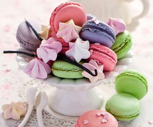 macarons, food, and macaroons image