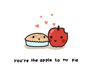 love, apple, and pie image