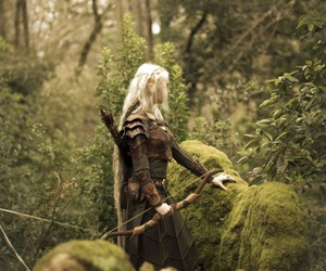 forest, elf, and fantasy image