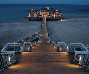 beach, house, and germany image