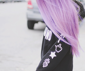 hair and purple image