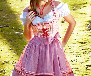 dirndl, dress, and oktoberfest image