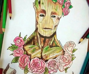 drawing, flowers, and tumblr image