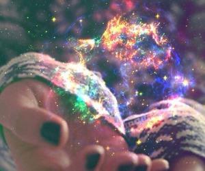 magic, galaxy, and hands image