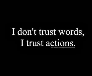 words, Action, and trust image