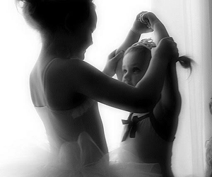 baby, ballet, and teacher image