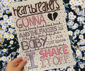 Taylor Swift, shake it off, and Lyrics image