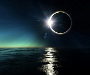 eclipse, moon, and blue image