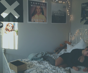 bedroom, girl, and music image