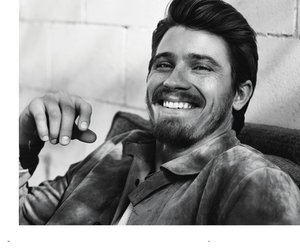 actor, black and white, and garrett hedlund image