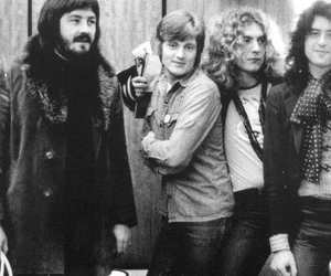 led zeppelin, jimmy page, and john paul jones image