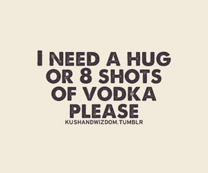 vodka, hug, and quote image