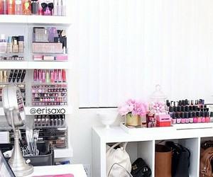 bedroom, makeup, and organização image