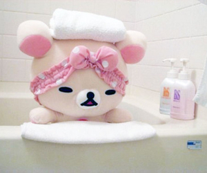 kawaii, rilakkuma, and pink image