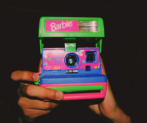 barbie, camera, and pink image