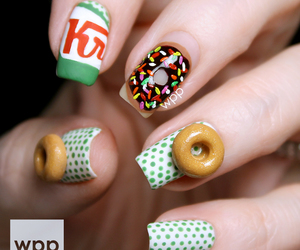 awesome, krispy kreme, and nail art image