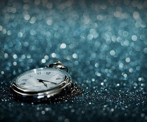 glitter, clock, and time image