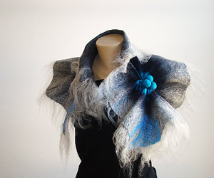 accessories, felted, and neck warmer image
