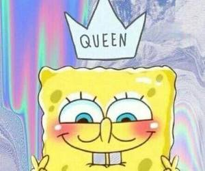 spongebob, Queen, and patrick image