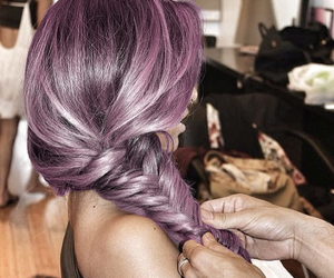 beautiful, purple hair, and dyed hair image