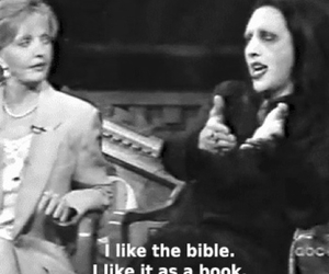 Marilyn Manson and bible image