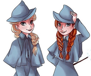 frozen, anna, and harry potter image