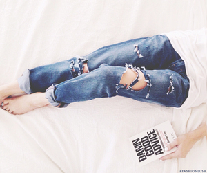 boyfriend jeans, ripped jeans, and instagram image