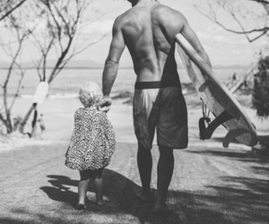 love, beach, and surf image