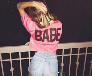 babe, girl, and pink image