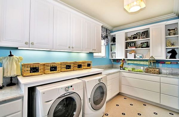 laundry room decor, laundry room cabinets, and laundry room organization image