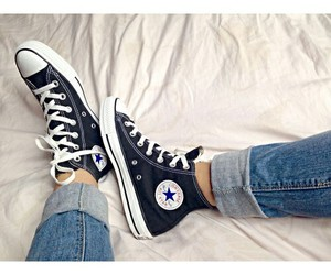 black, converse, and all star image