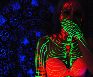 neon, colors, and blue image