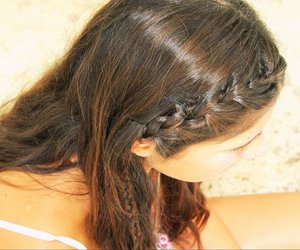 braids, brown, and hair image