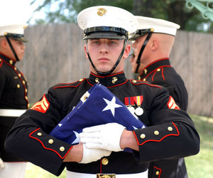colors, funeral, and Marines image