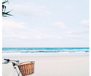 beach, summer, and bike image