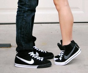 nike, love, and couple image