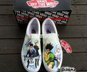 hand painted, hunter x hunter, and vans shoes image