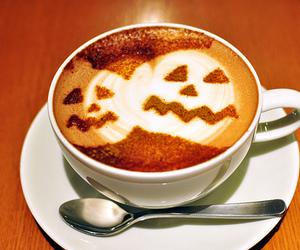 Halloween, coffee, and pumpkin image