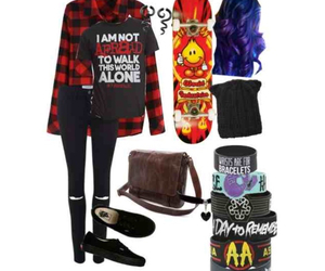 bands, mcr, and outfits image