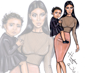 hayden williams, kim kardashian, and north west image