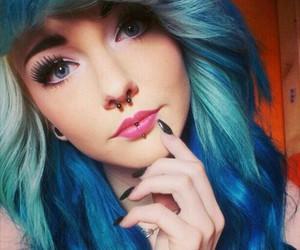 hair and blue hair image