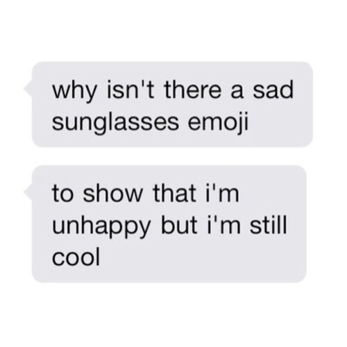 emoji, cool, and sad image