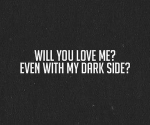 love, dark, and quotes image