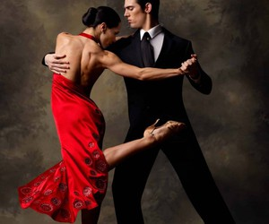 tango, dance, and red dress image