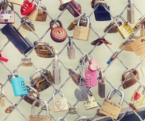 love, lock, and paris image