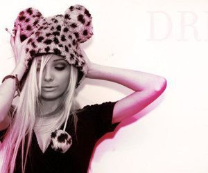 blonde, girl, and leopard image