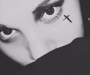 cross, girl, and gothic image
