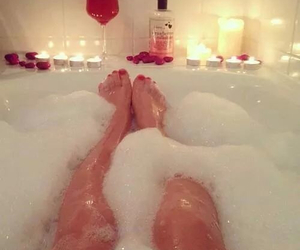 bath, candles, and petals image