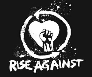 music, rock, and rise against image