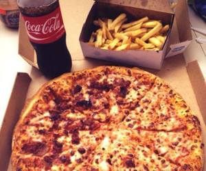 pizza, food, and coke image